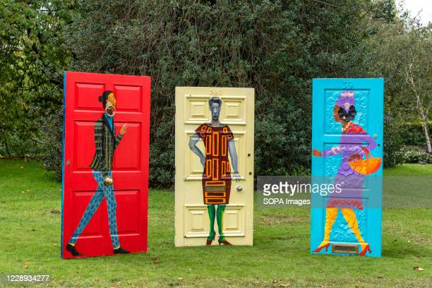 Lubaina Hamid's 'Five Conversations', part of a series of sculptures installed during the Frieze Sculpture 2020 exhibition at Regent's Park.