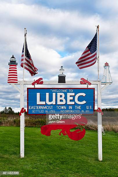 Lubec welcome sign Easternmost point in the USA