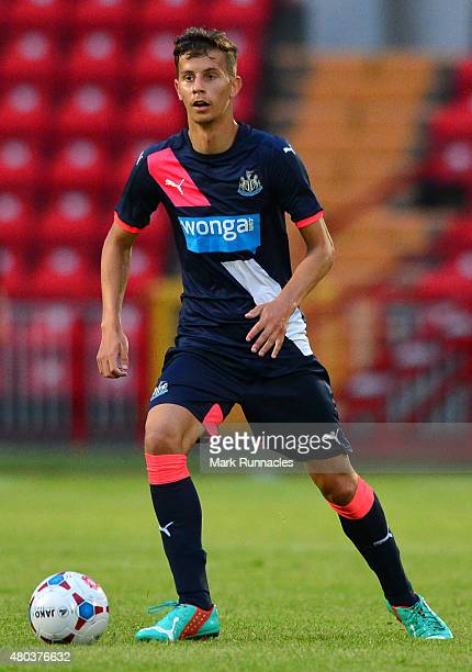 Lubomir Satka of Newcastle in action during the pre season friendly match between Gateshead and Newcastle United at Gateshead International Stadium...