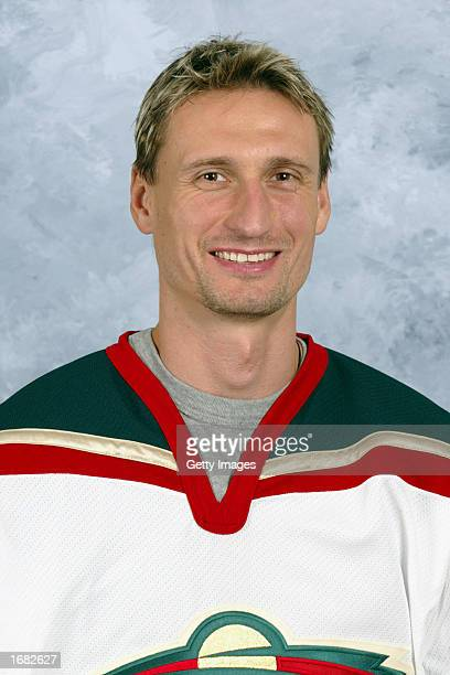 Lubomir Sekeras of the Minnesota Wild poses for a portrait on September 1 2002 at the Xcel Energy Center in St Paul Minnesota