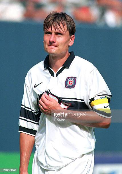 Lubos Kubik of the Chicago Fire during the 1998 season