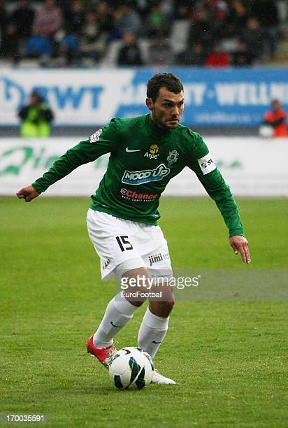 Lubos Loucka of FK Jablonec in action during the Czech First League match between FK Jablonec and SK Sigma Olomouc held on May 26, 2013 at the Chance...