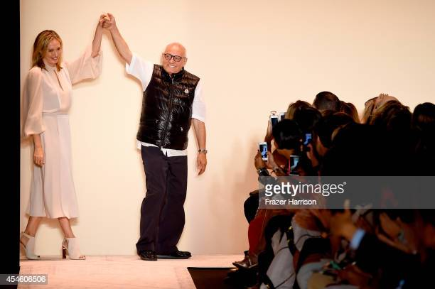 Lubov and Max Azria attend the BCBGMAXAZRIA fashion show during MercedesBenz Fashion Week Spring 2015 at The Theatre at Lincoln Center on September 4...