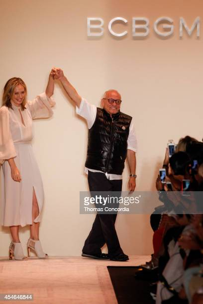 Lubov and Max Azria walk the runway at BCBGMAXAZRIA during MercedesBenz Fashion Week Spring 2015>> at The Theatre at Lincoln Center on September 4...