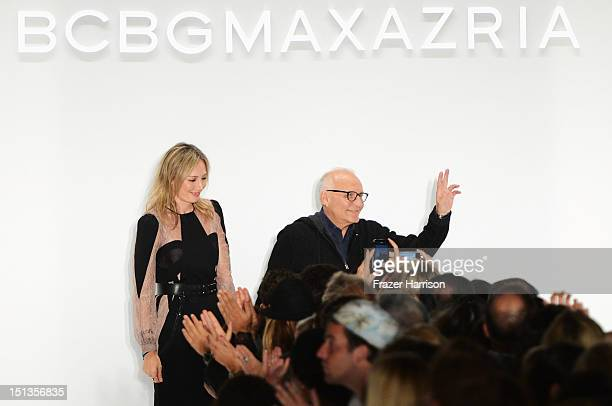 Lubov Azria and designer Max Azria walk the runway at the BCBGMAXAZRIA Spring 2013 fashion show during MercedesBenz Fashion Week on on September 6...