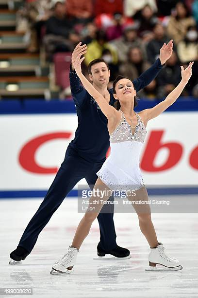 Lubov Iliushechkina and Dylan Moscovitch of Canada compete in the pairs free skating during the day two of the NHK Trophy ISU Grand Prix of Figure...
