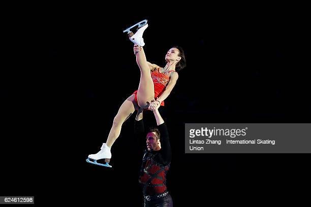 Lubov Iliushechkina and Dylan Moscovitch of Canada performs during the Exhibition Program on day three of Audi Cup of China ISU Grand Prix of Figure...