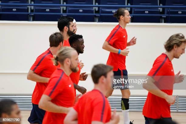 Luc Abalo of Paris Saint Germain during the Paris Saint Germain Training Session at Stade Pierre de Coubertin on August 2 2017 in Paris France
