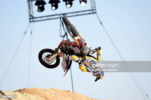 Luc Ackermann of Germany rides during the Red Bull XFighters World Tour 2015 on October 30 2015 in Abu Dhabi United Arab Emirates