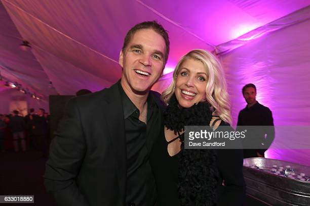 Luc and Stacia Robitaille attend the 2017 NHL AllStar Saturday Night Party at the Event Deck LA Live on January 28 2017 in Los Angeles California
