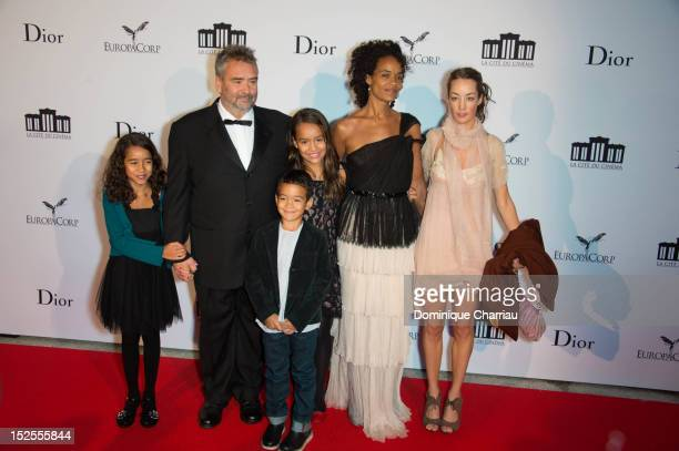 Luc Besson and his familly attend 'La Cite Du Cinema' Launch on September 21 2012 in SaintDenis France