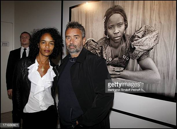 Luc Besson and his wife Virginie at Every Journey Began In Africa Party For The Exhibition Africa Rising And The Discovery Of The Collaboration...