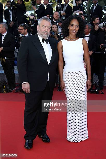 Luc Besson and his wife Virginie Silla attend 'The Last Face' Premiere during the 69th annual Cannes Film Festival at the Palais des Festivals on May...