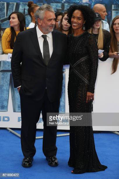 Luc Besson and Virginie Besson attend the 'Valerian And The City Of A Thousand Planets' European Premiere at Cineworld Leicester Square on July 24...