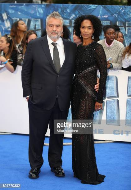 Luc Besson and Virginie BessonSilla attend the 'Valerian And The City Of A Thousand Planets' European Premiere at Cineworld Leicester Square on July...