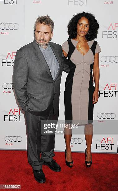 Luc Besson and Virginie Silla attend the AFI Fest 2011 Special Screening Of 'The Lady' held at the Grauman's Chinese Theatre on November 4 2011 in...