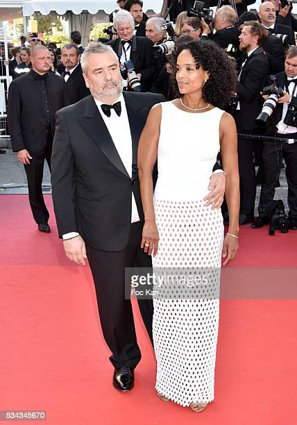 Luc Besson and Virginie Silla attend 'The Last Face' Premiere during the 69th annual Cannes Film Festival at the Palais des Festivals on May 20 2016...