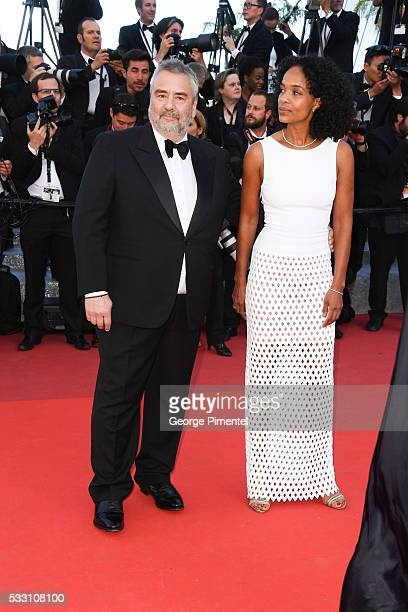 Luc Besson and Virginie Silla attend the screening of 'The Last Face' at the annual 69th Cannes Film Festival at Palais des Festivals on May 20 2016...