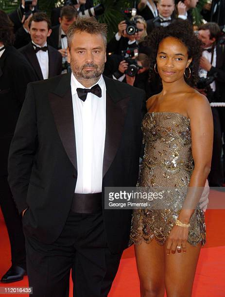Luc Besson and Virginie Silla during 2007 Cannes Film Festival Opening Night Gala and World Premiere of 'My Blueberry Nights' Arrivals at Palais de...