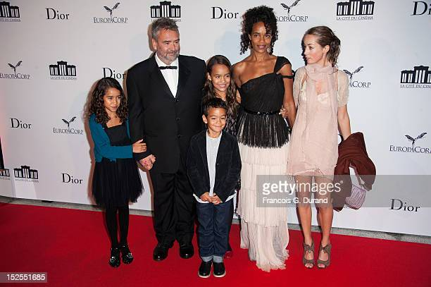Luc Besson attends with his familly 'La Cite Du Cinema' Launch on September 21 2012 in SaintDenis France