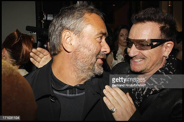 Luc Besson Bono at Every Journey Began In Africa Party For The Exhibition Africa Rising And The Discovery Of The Collaboration Between Edun And Louis...