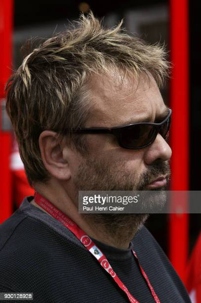 Luc Besson Grand Prix of San Marino Autodromo Enzo e Dino Ferrari Imola 24 April 2005 Film director and producer Luc Besson