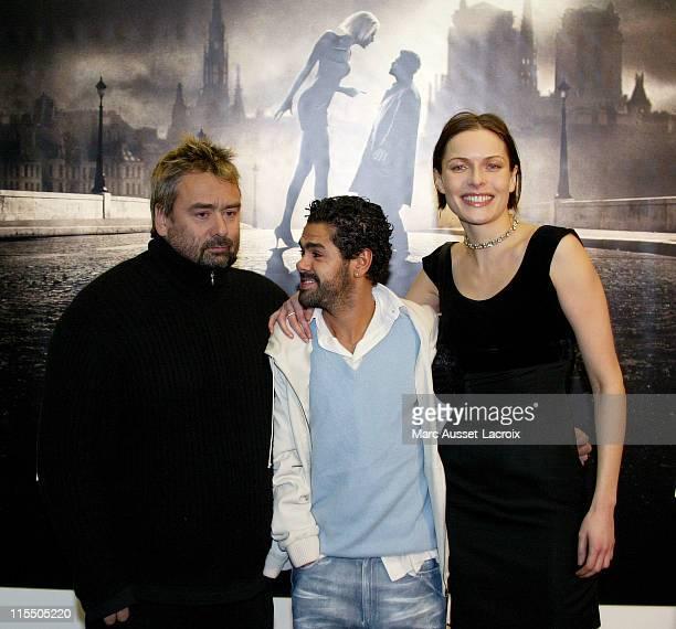 Luc Besson Jamel Debbouze Rie Rasmussen during 'AngelA' Paris Premiere Arrivals at GaumontMarignan in Paris France
