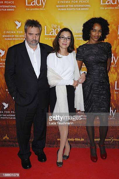 Luc Besson Michelle Yeoh and Virginie BessonSilla attend the 'The Lady' Premiere during day four of the 62nd Berlin International Film Festival at...