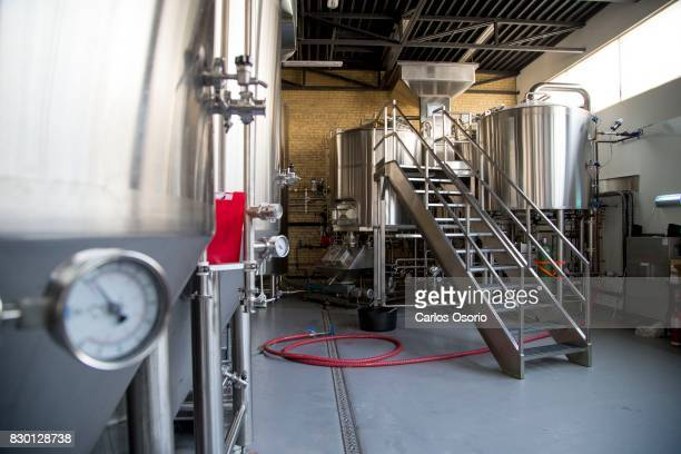 TORONTO ON AUGUST 3 Luc 'Bim' Lafontaine is the owner/brewer of Godspeed Brewery located at 242 Coxwell Avenue in Toronto