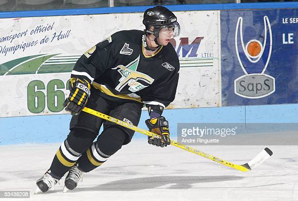 Luc Bourdon of Val-d' Or Foreurs skates against the Gatineau Olympiques during the game at Robert-Guertin Centre on December 17, 2004 in Gatineau,...