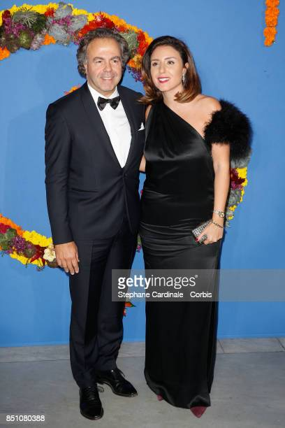 Luc Chatel and Mahnaz Hatami attend the Opening Season Gala at Opera Garnier on September 21 2017 in Paris France