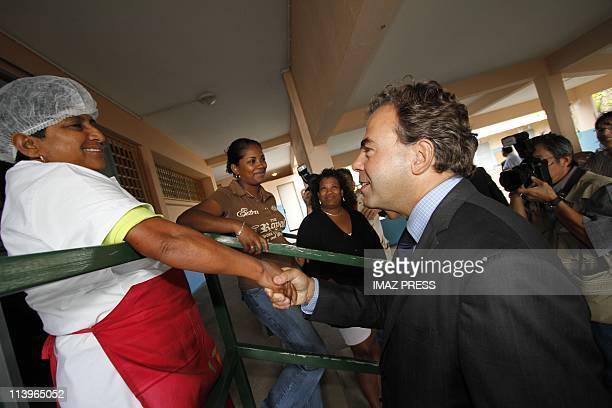 Luc Chatel witnesses the return of the Classes in La Reunion on August 19 2010Luc Chatel Minister of National Education arrived in La Reunion this...