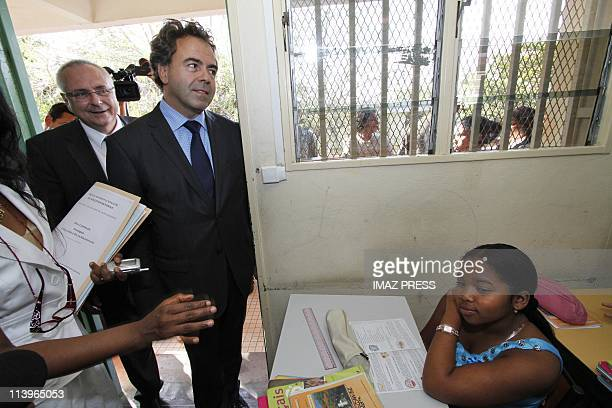Luc Chatel witnesses the return of the Classes in La Reunion on August 19 2010Saintdenis de La Reunion Luc Chatel Minister of National Education...