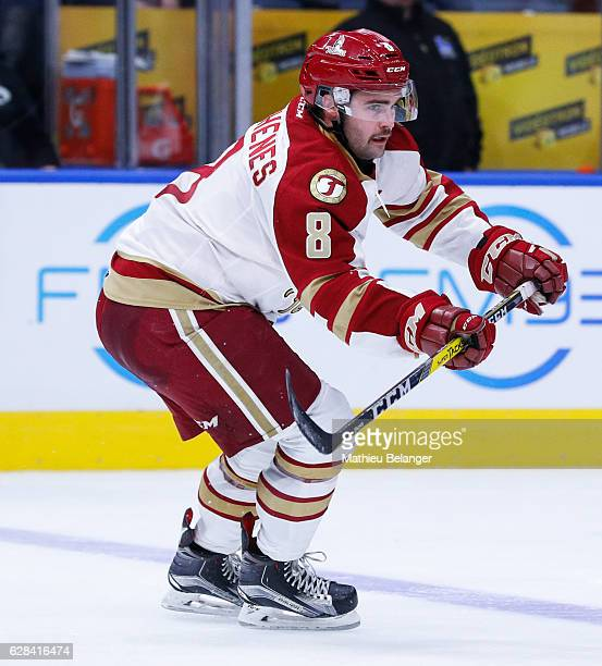 Luc Deschenes of the Acadie-Bathurst Titan skates during his QMJHL hockey game at the Centre Videotron on November 9, 2016 in Quebec City, Quebec,...