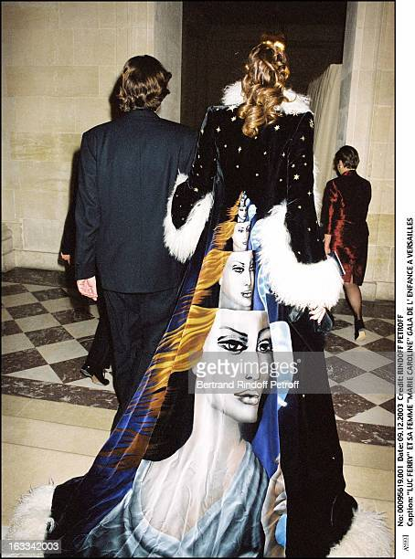Luc Ferry and his wife Marie Caroline Gala of Childhood in Versailles