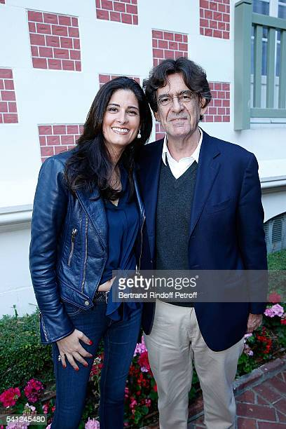 Luc Ferry and his wife MarieCaroline Becq de Fourquieres attend the Hotel Normandy ReOpening at Hotel Normandy on June 18 2016 in Deauville France
