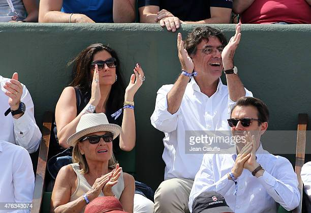 Luc Ferry and his wife MarieCaroline Ferry attend the men's final on day 15 of the French Open 2015 at Roland Garros stadium on June 56 2015 in Paris...