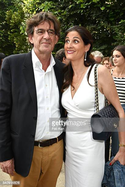 Luc Ferry and Marie Caroline Ferry attend La Fete des Tuileries on June 24 2016 in Paris France