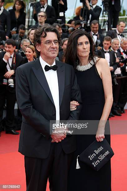 Luc Ferry and MarieCaroline Becq de Fouquires attend the 'Slack Bay ' premiere during the 69th annual Cannes Film Festival at the Palais des...