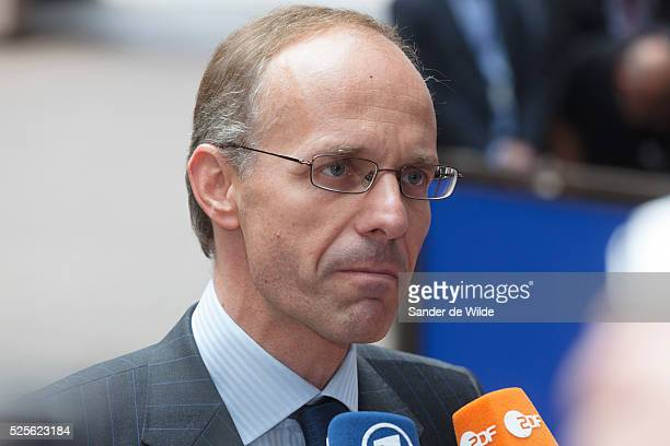 Luc Frieden, minister of Finance of Luxemburg attends Ecofin meeting of European ministers of finance in Brussels