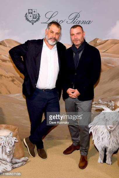 Luc Jacquet and Liev Schreiber attend the New York City Film Premier Of Cashmere The Origin Of A Secret with Loro Piana on October 30 2019 in New...