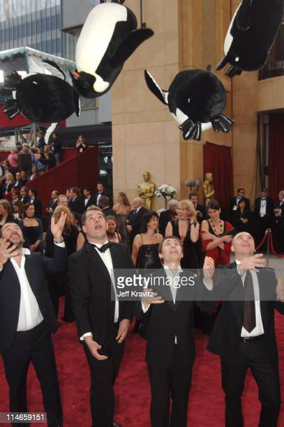 """Luc Jacquet and Yves Darondeau, nominees Best Documentary Feature for """"March of the Penguins"""", and guests"""