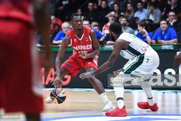 Luc Loubaki of Monaco during the Pro A match between Nanterre 92 and Monaco on January 21 2018 in Nanterre France