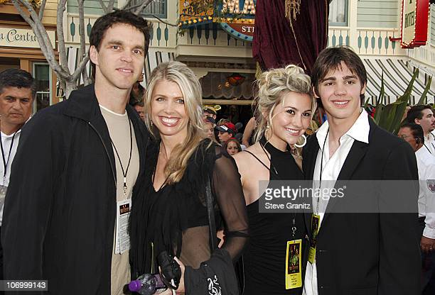 """Luc Robitaille and Family during World Premiere of Walt Disney Pictures' """"Pirates of the Caribbean: Dead Man's Chest"""" - Arrivals at Disneyland in..."""