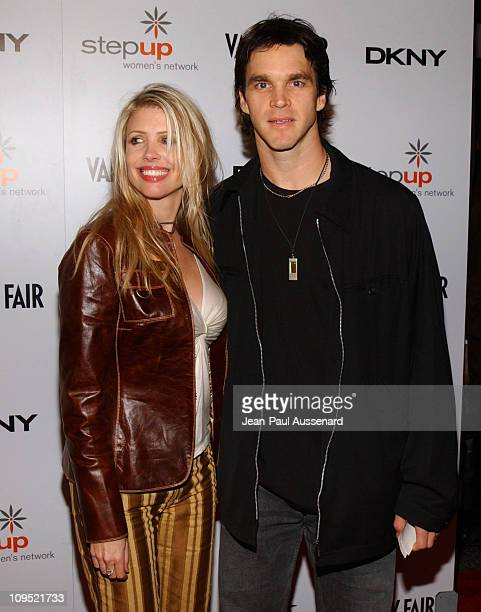 Luc Robitaille and wife during DKNY Presents Vanity Fair In Concert Featuring Camp Freddy Arrivals at Avalon Hollywood in Hollywood California United...