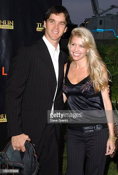 """Luc Robitaille and wife Stacia during """"Tutankhamun and the Golden Age of the Pharaohs"""" Opening Night Party at LACMA in Los Angeles, California,..."""