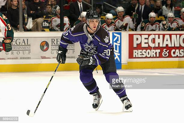 Luc Robitaille of the Los Angeles Kings skates against the Minnesota Wild on October 9 2005 at the Staples Center in Los Angeles California