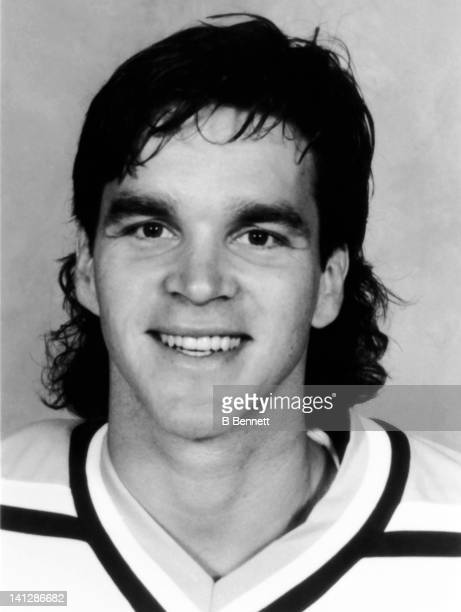 Luc Robitaille of the Pittsburgh Penguins poses for a portrait in September 1994 in Pittsburgh Pennsylvania