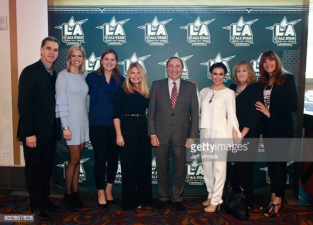 Luc Robitaille President of Marketing Los Angeles Kings Kathryn Tappen host NBC Sports Angela Ruggiero Chief Strategy Officer LA2024 Hockey...