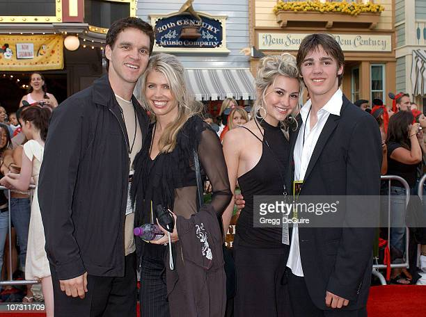 Luc Robitaille wife Stacia son Steven and guest during World Premiere of Walt Disney Pictures' Pirates of the Caribbean Dead Man's Chest Arrivals at...
